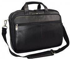 Case Leather Top Zipper Laptop Computer Bag Holder Briefcase Business Document