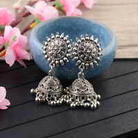 Women's Bohemian Engrave Tassel Drop Dangle Ethnic Gypsy Handcrafted Earrings