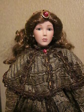 """Angelina Suchart Studio Porcelain Doll With Soft Body 22"""" Rare Collectable"""