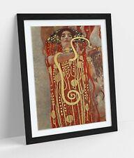 KLIMT HYGIEIA GODDESS OF HEALTH -ART FRAMED POSTER PICTURE PRINT ARTWORK- GOLD