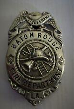 Vintage Baton Rouge Louisiana Fire Department Lieutenant Badge