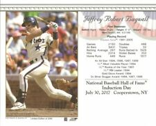 JEFF BAGWELL 8x10 Induction Day HOUSTON ASTROS Cooperstown Baseball Hall of Fame