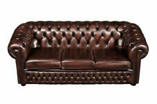 Chesterfield Design Luxus Polster Sofa Couch Sitz Garnitur Leder Textil Neu #115