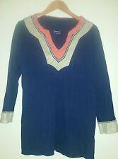 Charter Club Navy Blue and Orange Large Tunic