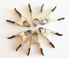 """4"""" METAL SPRING CLAMP ~ lot of 6 Pony Style ** Free Shipping **"""