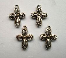 20pcs Tibetan silver cross charms pendant 18.5x13 mm