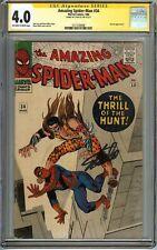 Amazing Spider-Man #34 CGC 4.0 SS STAN LEE KRAVEN app Steve Ditko Cover Marvel