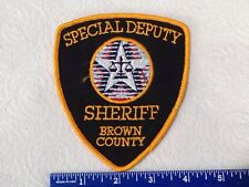 PATCH BROWN COUNTY WISCONSIN SHERIFF SPECIAL DEPUTY POLICE FIRE EMT