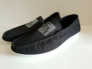 Brand new men's boys soft fabric loafers shoes casual walk Black- Bargain