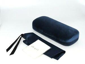 Gucci Sunglasses Eyeglasses Small Set Blue Velvet Case Cloth Pouch