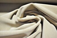 """Beige Sand Woven Velvet Upholstery Suede Fabric 54"""" Soft Plush Durable JB Martin"""