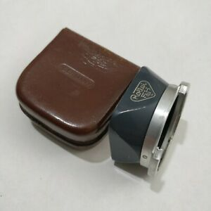 Rollei Genuine Lens Hood for Rolleiflex 4x4 Baby Grey in Leather CaseUSED!