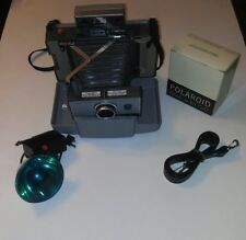 Polaroid 230 Land Camera w/Close Up Attachment,Extra Lens and Flash (268)