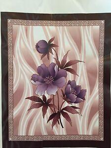 Korean Mink Blanket - Queen - Flower Design - Apple Brand - Made in Korea