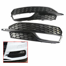 Pair Front Lower Bumper Fog Light Grill Trim For AUDI A3 S line 2013-16