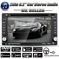 """6.2"""" Double 2DIN Car Stereo CD DVD Player Bluetooth Touch Radio FM/AM TV USB SD"""