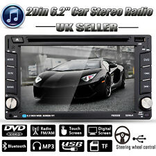 "6.2"" Double 2DIN Car Stereo CD DVD Player Bluetooth Touch Radio FM/AM TV USB TF"