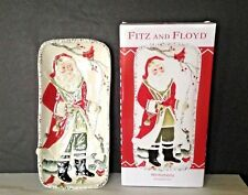 Nib Santa Claus Fitz & Floyd Winterberry Large Christmas Elongate Tray Plate