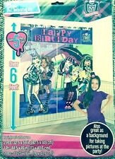 NEW MONSTER HIGH Birthday Party Giant 5 piece Scene Setter - Decoration Supply