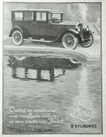 PUBLICITÉ DE PRESSE 1926 AUTOMOBILES BUICK 6 CYLINDRES LA MEILLEUR VOITURES