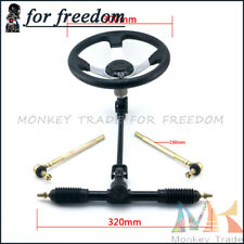 110cc Go Kart Quad Parts 300mm Steering Wheel Assembly 320mm Gear Rack Pinion