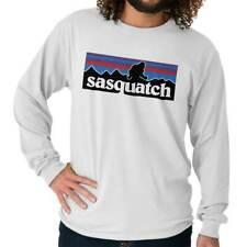 Sasquatch Mountain Mythical Bigfoot Urban Legend Creature Long Sleeve Tee