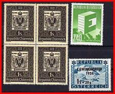 AUSTRIA  1950//54 x5 STAMPS MNH SC#572, 637, B287