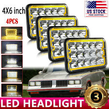 "4x6"" LED Headlights Headlamp DRL Projector Hi/Lo Beam For Chevrolet Monte Carlo"