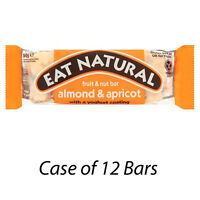 EAT NATURAL FRUIT & NUT BARS ALMOND & APRICOT & YOGURT COATING BARS x 12 217709
