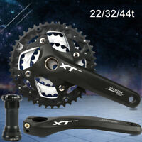 7/8/9 Speed 22/32/44T Triple 64/104bcd MTB Bike Crankset Chainring Crank Set BB