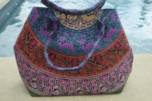 Handbag Indian Mandala Tote Bag Shoulder Cotton Women Satchel Purse Lady Style05