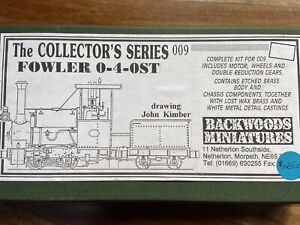 Backwoods Miniatures Fowler 0-4-0ST, 009 Unbuilt Kit
