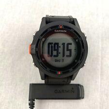 Garmin Fenix GPS Smart Watch Activity Tracker Black Silicone Strap Sport Running