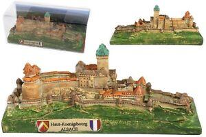 Haut Königsbourg Elsaß Poly Modell 13 cm Frankreich Souvenir Hohkönigsburg