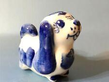 Pekinese Porzellan Figur Hund aus Russland Miniatur-Figur