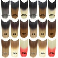 Hidden Invisible Ombre Hairpiece Wire Secret Hair Piece Straight Hair Extensions