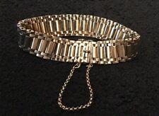 Vintage Hallmarked 9ct 9k Yellow Gold Flexible Watch Bracelet 44.3g