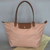 Longchamp New Le Pliage Nylon Tote Handbag pale rose Large