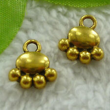 Free Ship 200 pcs gold plated claw charms 14x13mm #2485