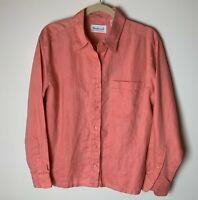 Westbound Women's Shirt Size Medium Top 100% Linen Long Sleeves Casual Work