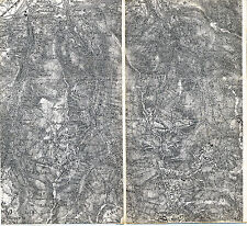 Wattens Walchen Volders 1908 kl. Teilkarte/Ln. Tuxer Alpen Mölser Hochleger