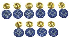 More details for masonic lapel pin badges / tie pins gift own personalised lodge no 5 10 15 or 20