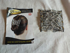 Collectible EZ Stretchable Comb AS SEEN ON TV with Instructions AB Silver Beads