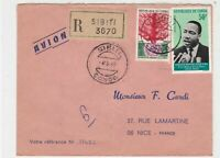 Rep Du Congo 1969 Regd Airmail Sibiti Cancels L.King + Org Stamps Cover Rf 30696