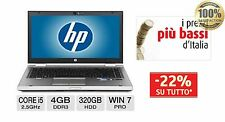 "Notebook HP Elitebook 8460p Core i5 2520 M 2.5GHz 4 GB 320 DVD±RW 14.1"" LED HD"
