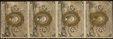 4 Pc Strip of 5 Cent Fractional Currency Notes 1863 1867 Paper Money Fr 1233