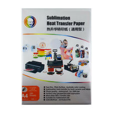 100 Sheets A4 Dye Sublimation Paper Desktop Inkjet Printer Heat Transfer
