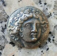 Moneda tetradracma Tesalia anfipolis apolo antorcha olimpia Grecia antigua