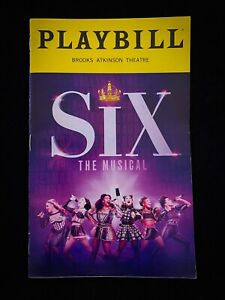 SiX The Musical Previews Broadway Playbill. Samantha Pauly Abby Mueller Feb RARE