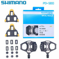 """1 Pair 9/16"""" Shimano 105 PD-5800 Bike Clipless Pedals Road Bicycle Carbon Cleat"""